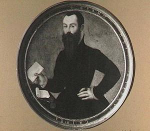 Portret van een vijfendertigjarige man (op de achterzijde: een bellenblazende putto)