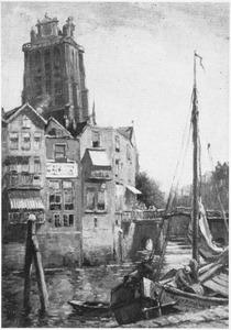 Dordrecht: zicht op de toren van de Grote Kerk