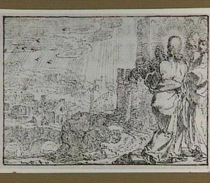 Christus weent over Jeruzalem (Lucas 19:41-47)
