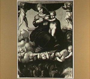 Maria met kind en de zielen in het vagevuur