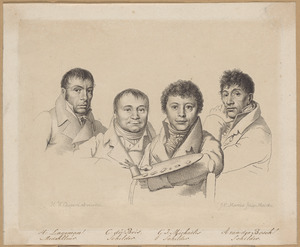 Portretten van Hendrik Lageman (1756-1816), Chrétien Dubois (1765-1837), Gerrit Jan Michaëlis (1775-1857) en Anthonie van den Bosch (1763-1838)