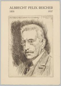 Portret van Albrecht Felix Reicher (1858-1938)