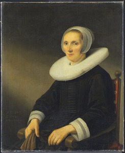 Portret van Jacobmina de Grebber (-1666)