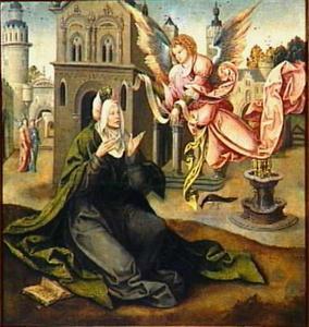 De verkondiging van Maria's geboorte aan Anna