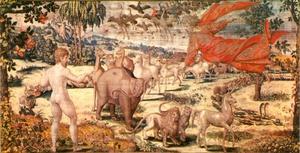 Adam geeft de dieren hun namen