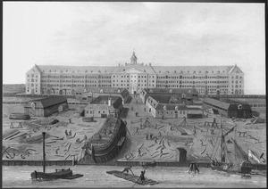 Het magazijn en de werf van de V.O.C. te Amsterdam