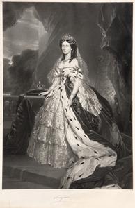 Portret van Augusta von Saksen -Weimar-Eisenach (1811-1890)