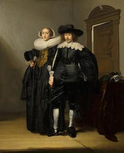 Portret van een onbekend echtpaar