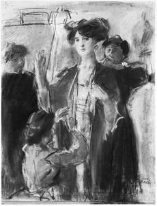 Een dame in het Hirsch atelier te Amsterdam