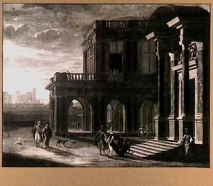 Elegante figuren voor een paleis