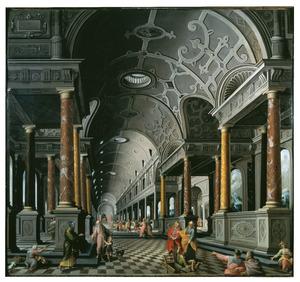 De genezing van de lamme door Petrus en Johannes aan de Schone Poort van de tempel  (Handelingen 3:1-11)