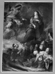 De H. Maagd als voorspreekster bij Christus voor zieken en armen