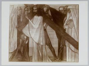 Tweede Kruiswegstatie. Jezus neemt het kruis op zijn schouders