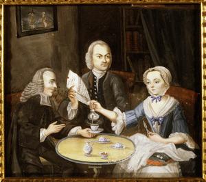 1Portret van Theodorus Petrus Abbing (1721-1790), Johanna Helena van Coeverden (1728-?) en mogelijk Tieleman Abbing (1686-746)
