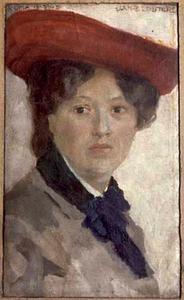 Vrouw met rode hoed