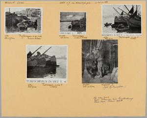 Blad met 5 etsen van W. Witsen uitgegeven door de kunsthandel E.J. van Wisselingh & Co
