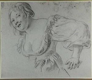 Studie van vrouw met decolleté