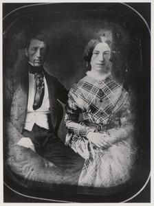 Portret van Evert Rein van der Wyck (1813-1872) en Louiza Johanna Westenberg (1822-1878)