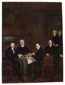 Portretgroep van Weesper burgemeesters