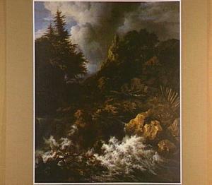Berglandschap met waterval