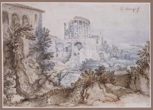 De tempel van de Tiburtijnse Sibylle te Tivoli