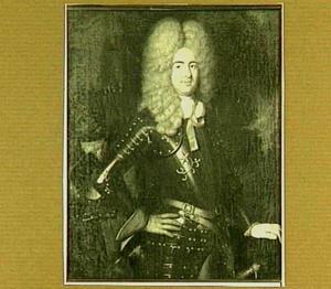 Portret van een man, mogelijk Isaac de Perponcher Sedlnitzky (1662-1708), met een bediende