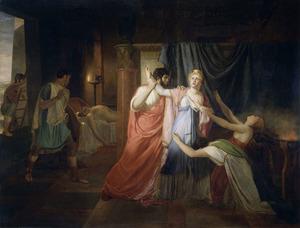 Proculeus weerhoudt Cleopatra zich te doorsteken