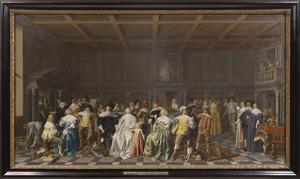 Bruiloft van Willem van Loon en Margaretha Bas