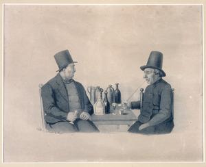 Portret van Petrus van Waterschoot (1775-1853) en Izaak van Dommellen (1779-1852)