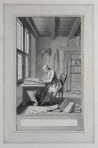 Illustratie bij 'De onsterfelyke autheur' uit de Fabelen en vertelsels van F.C. Gellert
