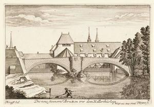 De nieuwe stenen brug voor de Hallerthürlein te Neurenberg