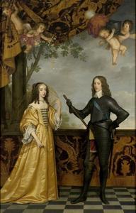 Dubbelportret van Willem II van Oranje-Nassau (1626-1650) en Maria Stuart (1631-1660)