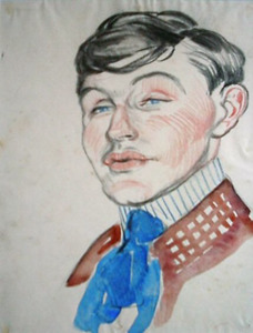 Portret van de schilder Piet van der Hem (1885-1961)