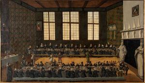 Feestbanket ter gelegenheid van het huwelijk van Eraert van Pipenpoy (....-1638) en Jel van Liauckama (....-....)