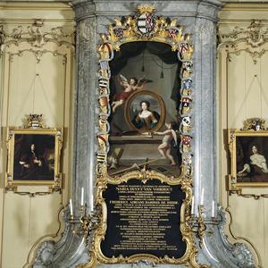 Allegorie op de kunsten met het portret van Maria Duyst van Voorhout, Vrijvrouwe van Renswoude