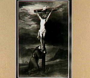 Christus aan het kruis aanbeden door de H. Franciscus van Assisi