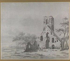 Kerkruïne van Eik en Duinen bij Den Haag in de toestand van voor ca. 1620