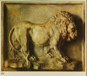 Trompe l'oeil van het relief van de Medici-leeuw