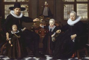 Portret van een onbekende Amsterdamse familie