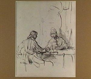 Esau verkoopt zijn eerstgeboorterecht aan Jacob voor een bord linzen (Genesis 25:31-34)