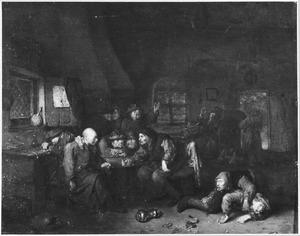 Drinkende mannen in een herberg