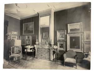 Interieur woonhuis verzamelaar Eduard van Dam