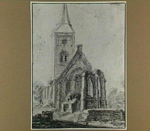 Velsen, ruïne van de kerk