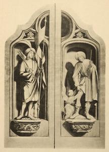 De H. Sebastiaan (links), de H. Rochus (rechts)