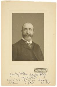 Portret van Gustaaf Willem Adolf Wolf van der Feltz (1852-1910)