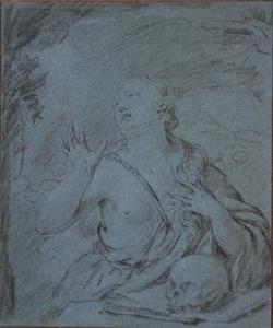 De boetende Maria Magdalena in een grot