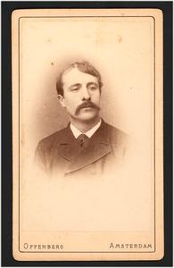 Portret van de schilder Jacob Simon Hendrik Kever (1854-1922)