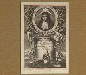 Portret van landvoogdes Isabella Clara Eugenia , Infanta van Spanje, als non van de orde van de Clarissen