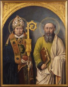 De HH. Augustinus en Paulus (fragment van een drieluik)