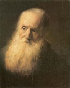 Portret van een baardige grijsaard